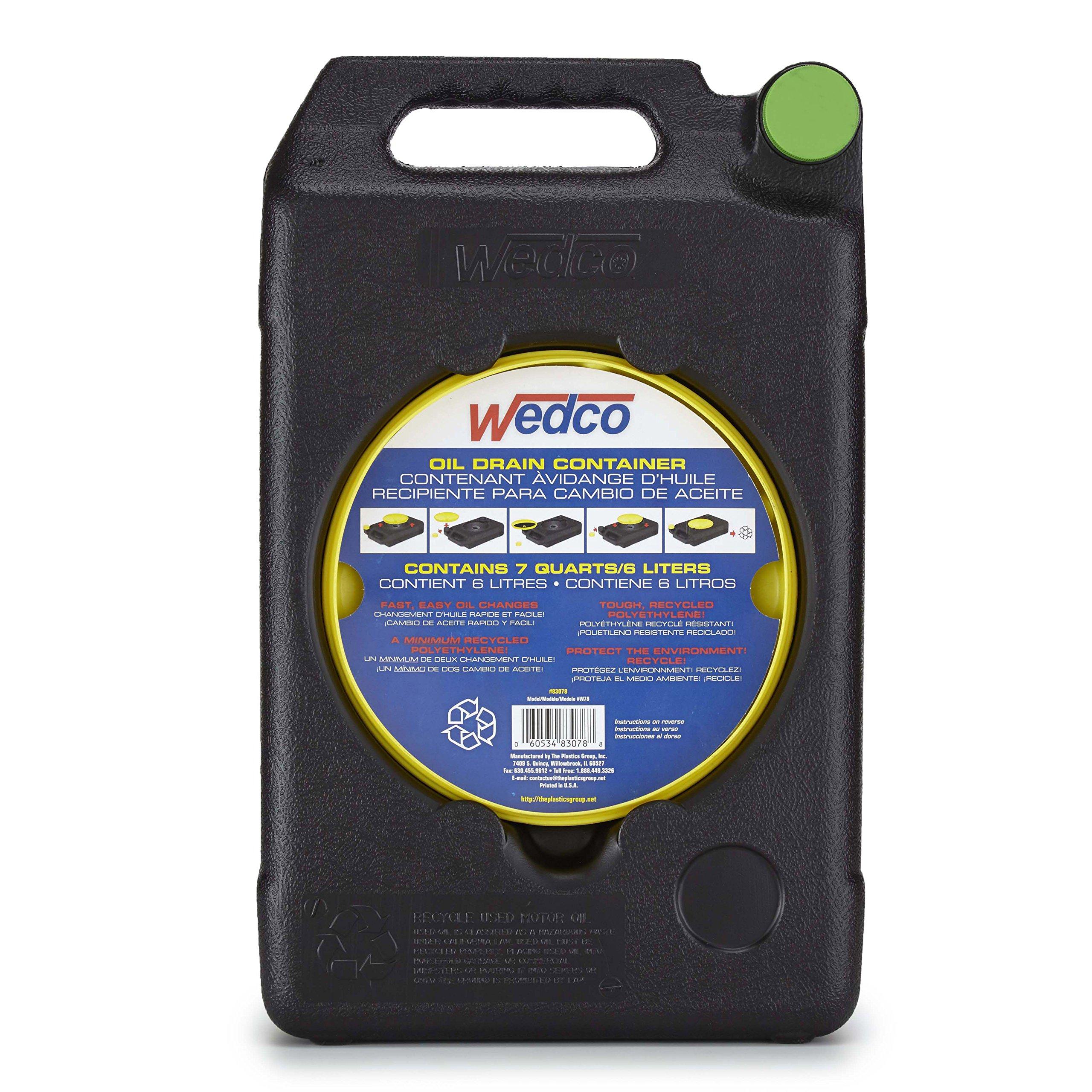 Wedco Oil Recycle Drain Pan, 7 quart