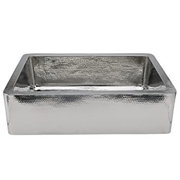 Hammered Stainless   Farmhouse Sink 33u0026quot;