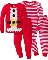 Gerber Unisex Baby and Toddler 4 Piece Holiday Cotton Pajama Set