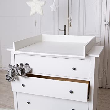 Wickelaufsatz Fur Ikea Hemnes Hurdal Kommode In Weiss Amazon De Baby