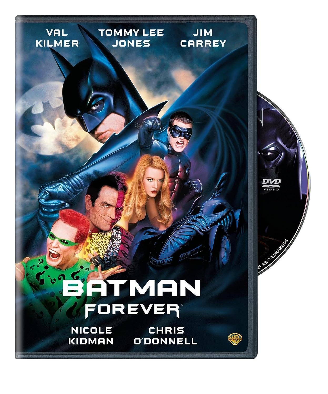 Amazon Com Batman Forever Val Kilmer Tommy Lee Jones Jim Carrey Chris O Donnell Nicole Kidman Movies Tv