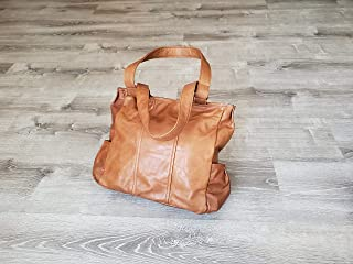 product image for Brown Rustic Leather Bag, Retro Tote Boho Chic Handbag, Trendy Distressed Leather Purse for Women, Unique Bags, Katty
