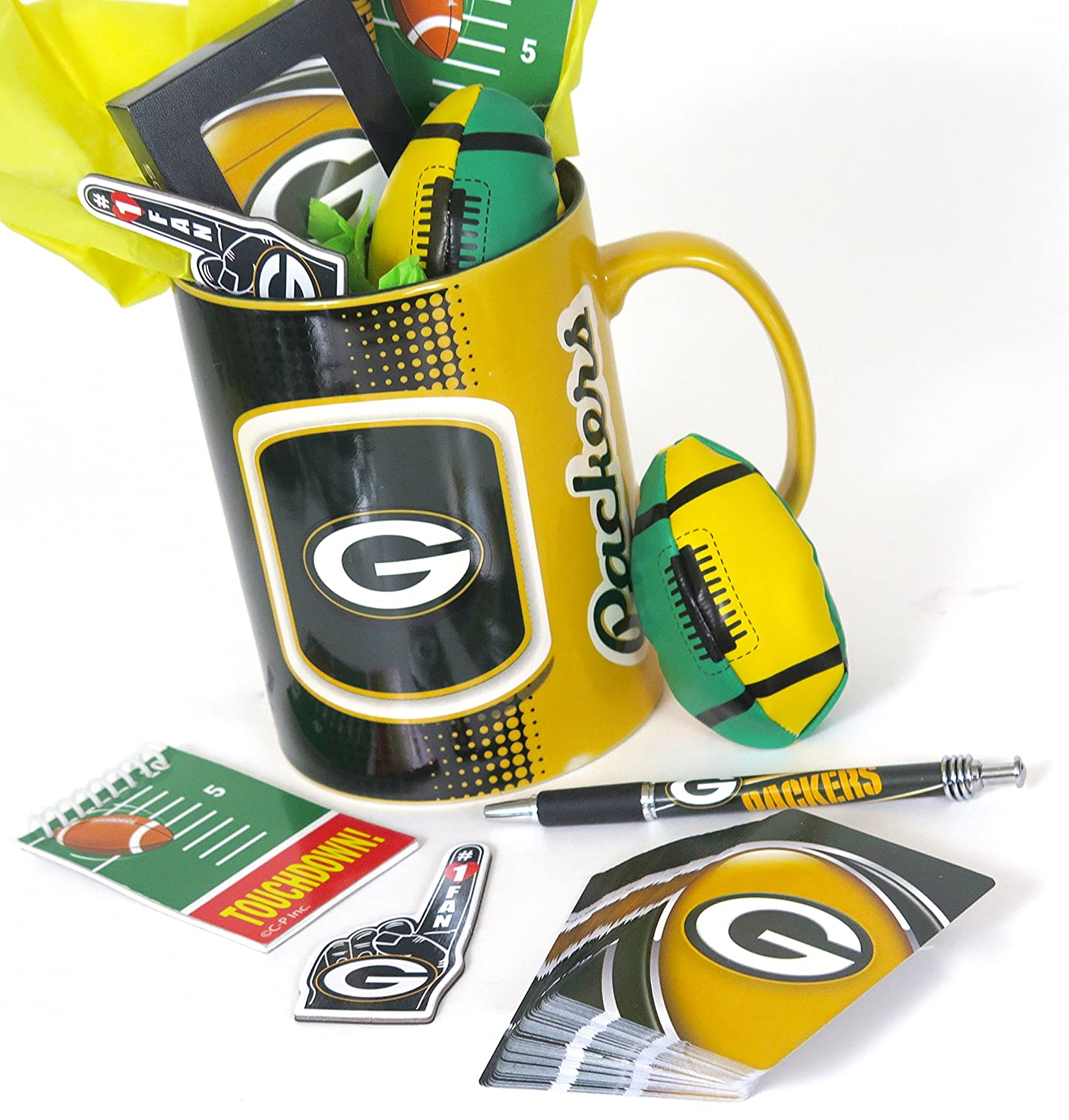 Green Bay Packers Dads gift set featuring a super Jumbo 1 quart coffee mug A outstanding gift for Dad on Fathers Day.