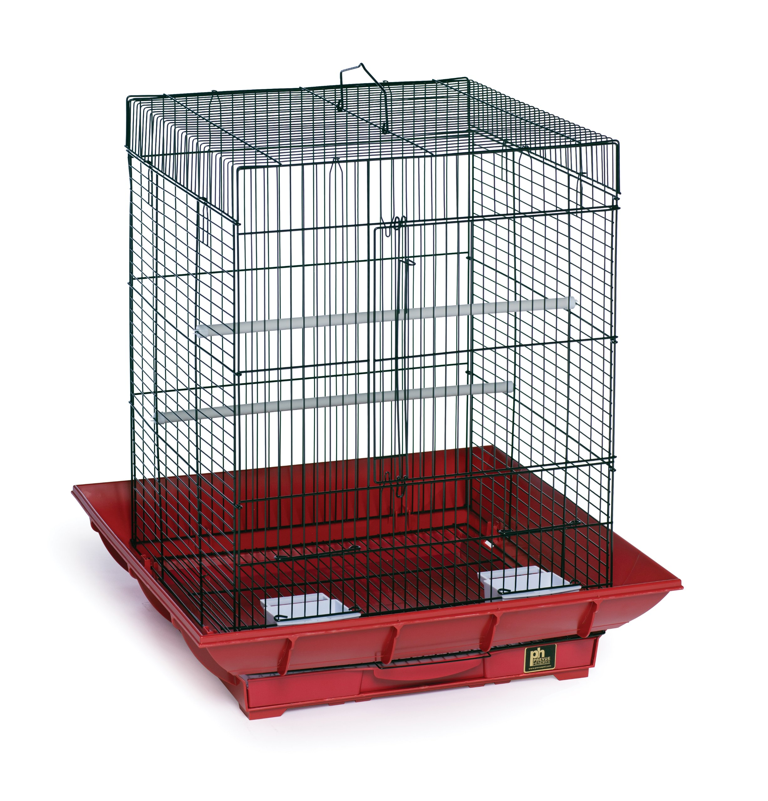 Prevue Hendryx SP850R/B Clean Life Cockatiel Cage, Red and Black by Prevue Hendryx