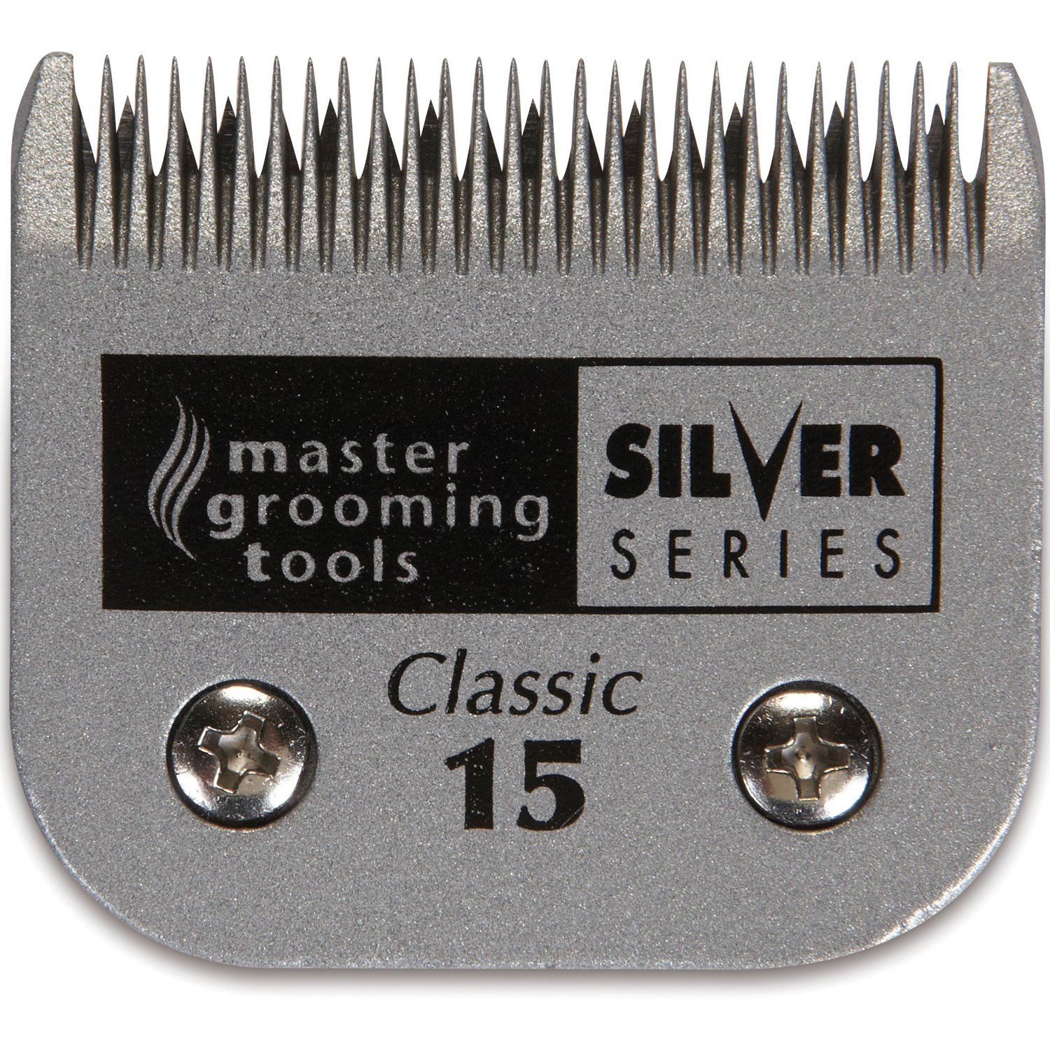 Master Grooming Tools Silver Series Steel Blades - Detachable Blades for A5-Style Dog-Grooming Clippers - #15, 3/64''