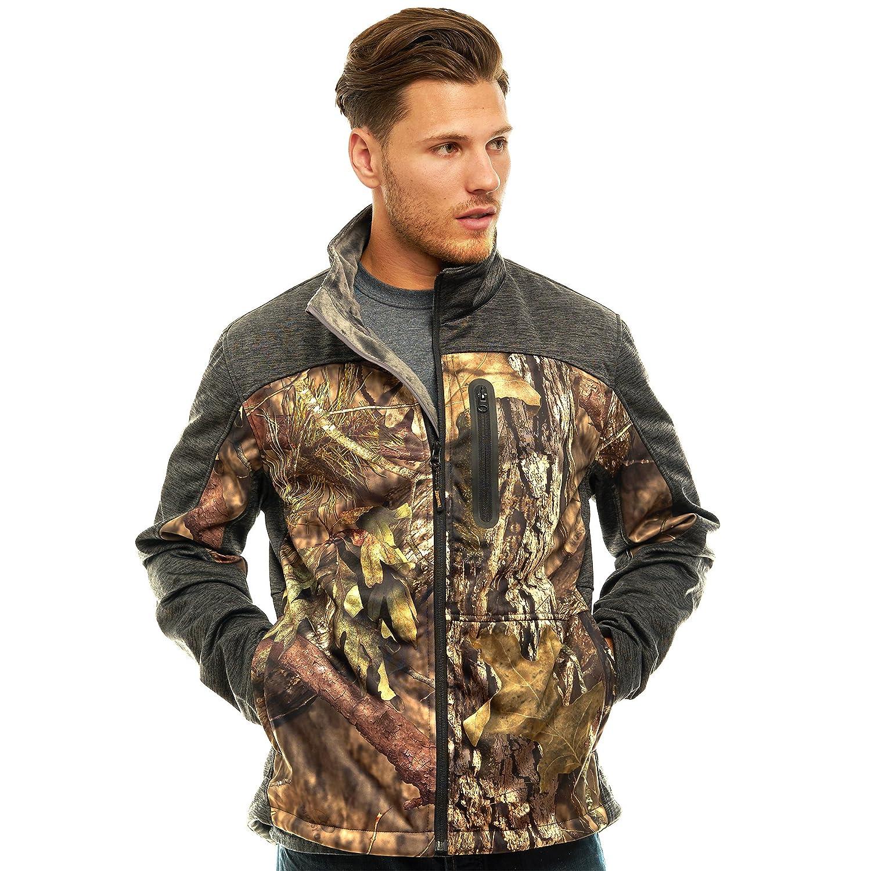d3250a1dbdddd TrailCrest Men's Outdoor Waterproof Softshell Jacket, Mossy Oak Camo  Patterns at Amazon Men's Clothing store:
