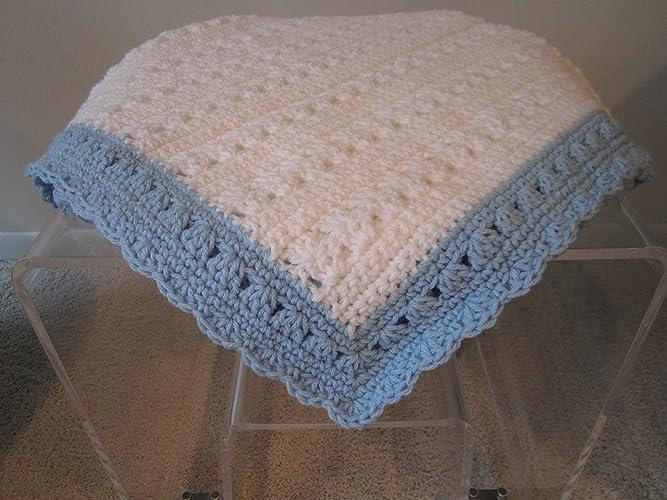 Amazoncom New Hand Crochet Baby Boy Blanket By Kim Handmade