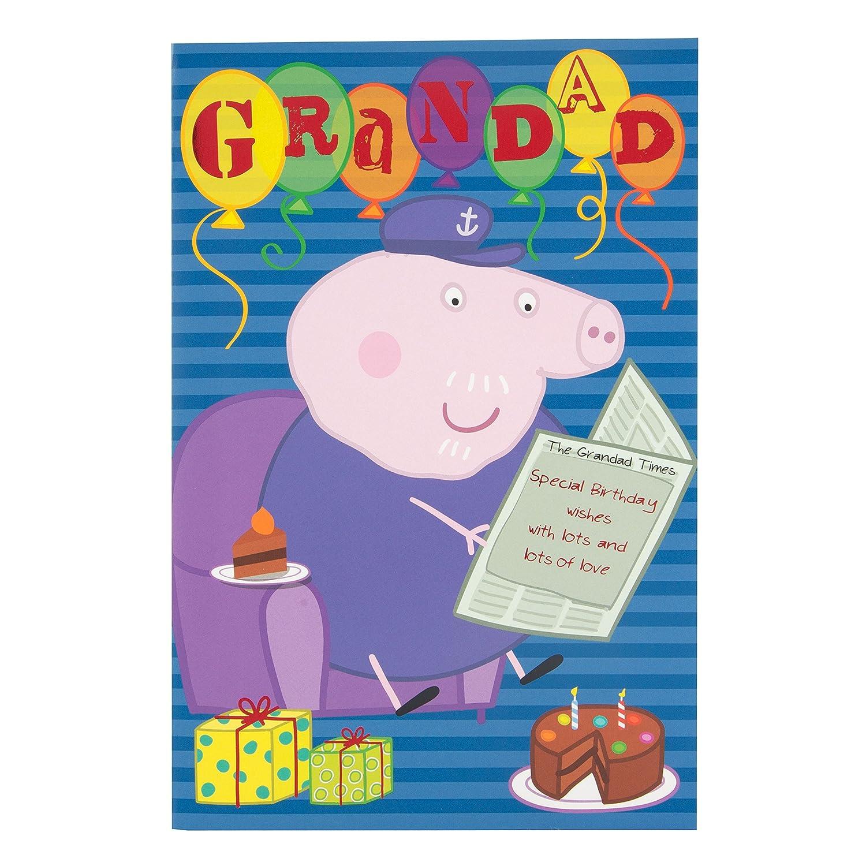 Peppa Pig Happy Birthday Grandad Card Amazoncouk Office – Happy Birthday Grandpa Card
