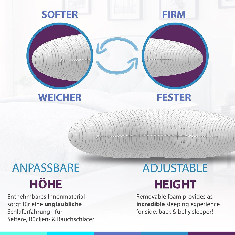 Schlafmeister Viscoelastic Side Sleeper Pillow Height