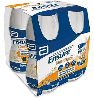 Ensure Nutrivigor sabor vainilla en botella de 220ml pack x4 – complemento alimenticio con proteínas,