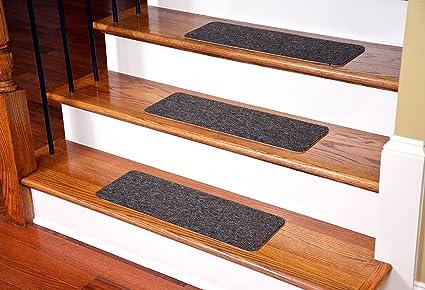 Dean Affordable Non Skid DIY Peel U0026 Stick Carpet Stair Treads   Color: Brown