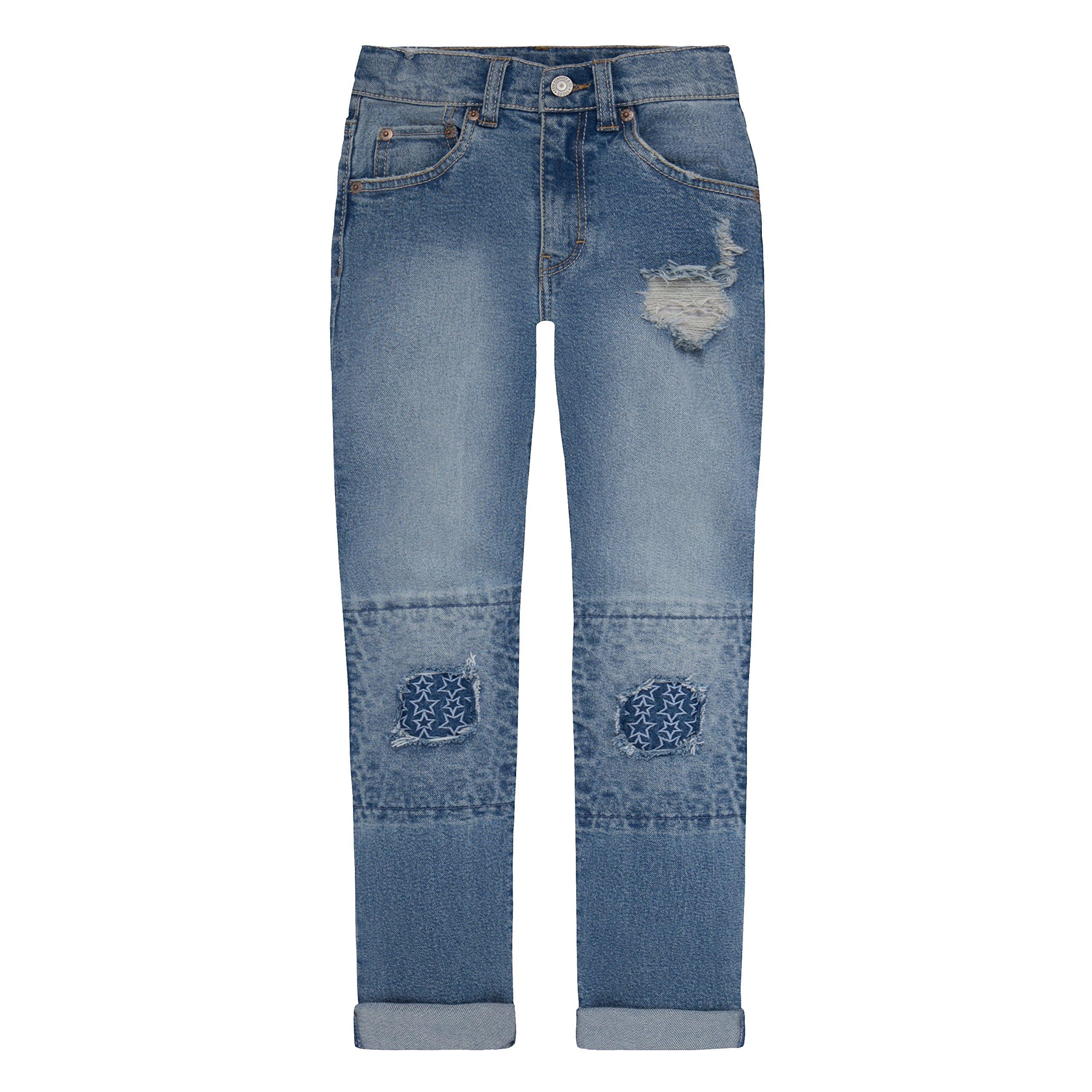 Levi's Girls' Big Girlfriend Fit Jeans, Nirvana, 12 by Levi's