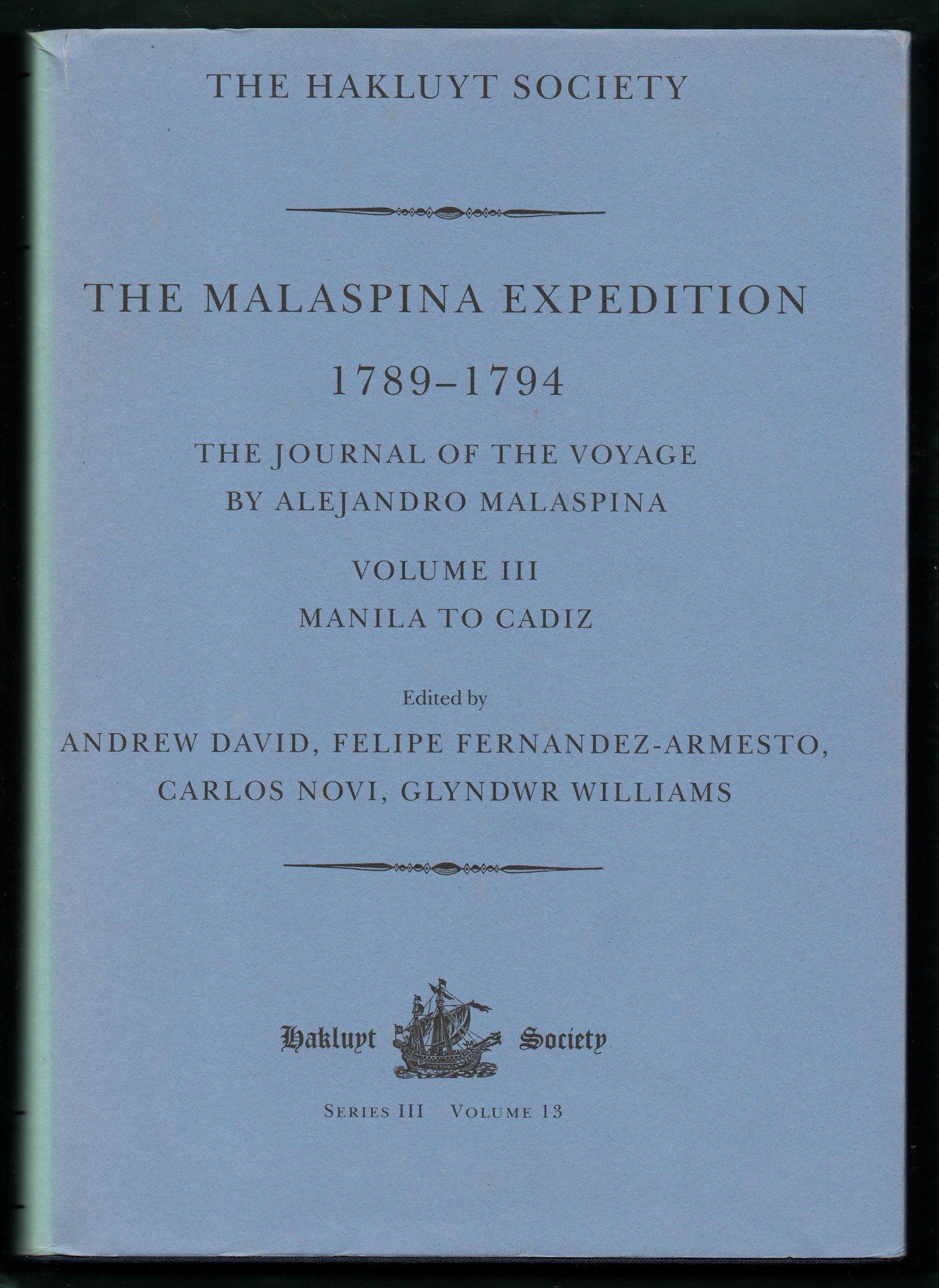 Amazon.com: The Malaspina Expedition 1789-1794 Volume 1 ...