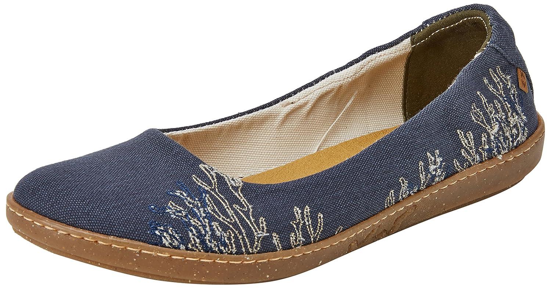El Naturalista Women's N5300t Seaweed Canvas Ocean/Coral Ballet Flat B075MHMPTJ 40 Medium EU (9 US)|Ocean