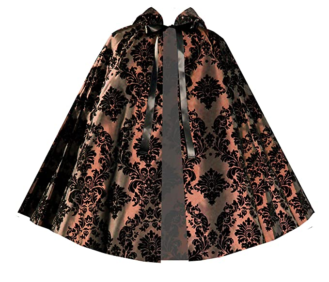 Victorian Wraps, Capes, Shawl, Capelets Victorian Historical Steampunk Gothic Renaissance Short Capelet Brown $61.99 AT vintagedancer.com