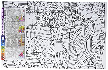 Amazon.com: Zorbitz 2614 Joy of Coloring Adult Coloring Posters 11 ...