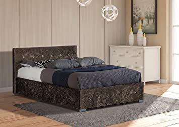 d93745977202 Image Unavailable. Image not available for. Colour: Comfy Living 4ft6 Double  Crushed Velvet Storage Ottoman Bed ...