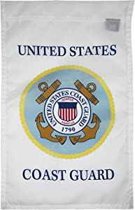 FlagSource U.S. Coast Guard Nylon Garden Flag, Made in The USA, 18x12 in