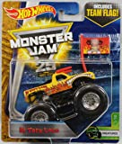 2017 Hot Wheels Monster Jam 1:64 Scale Truck with Team Flag - El Toro Loco Yellow