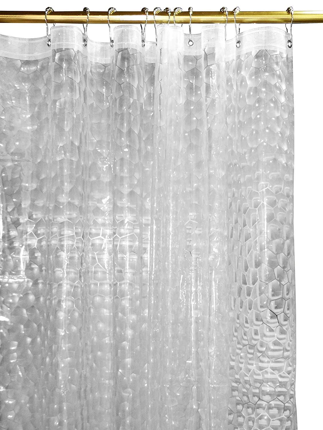 Mildew Resistant 3D Shower Curtain - Water-Repellent & Anti-bacterial