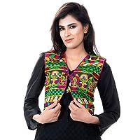 Banjara India Kutchi Short Choli Jacket [Duck]