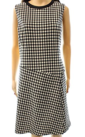 Lauren Ralph Lauren Womens Textured Houndstooth Wear To Work Dress