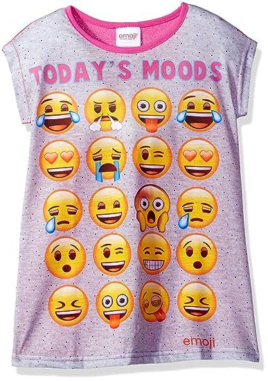 eb0fa7c7 Amazon.com: Emoji Little Girls' Emoji Nightgown, Gray, 6: Clothing