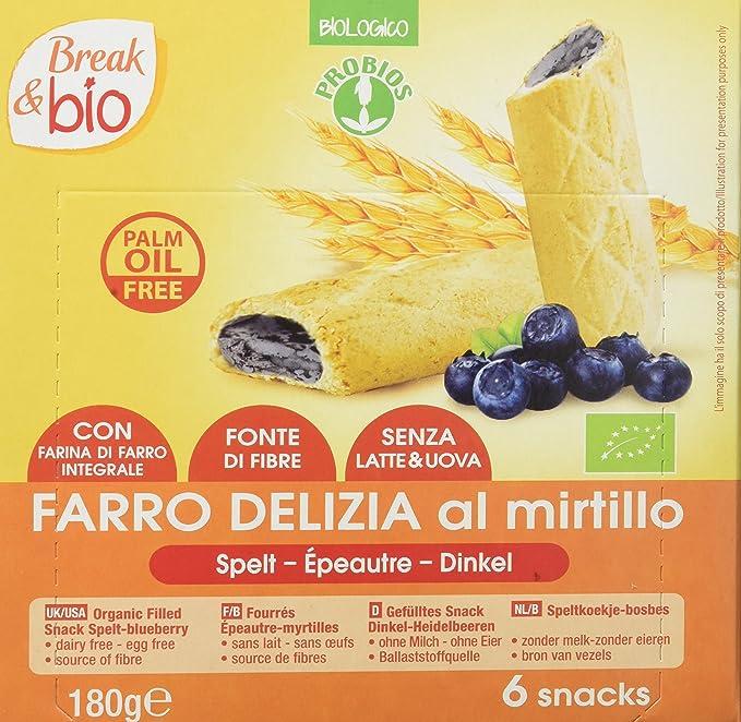 Probios Break&Bio Galletas de Espelta Rellenas de Arándanos - 10 paquetes