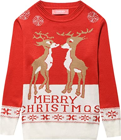 Camii Mia Big Girls Holiday Party Pullover Crewneck Ugly Christmas Sweater