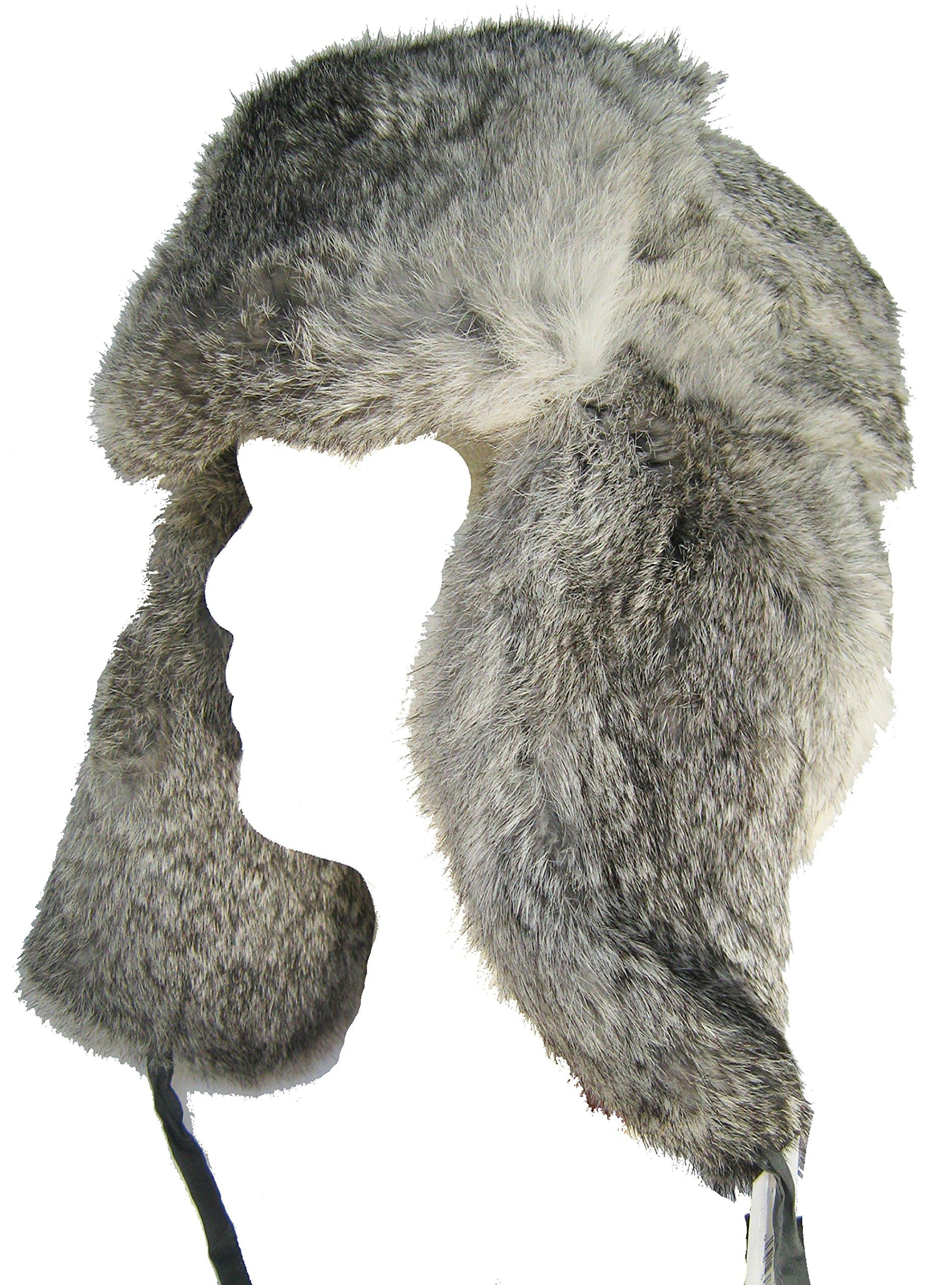 Klondike Sterling Russian Rabbit Fur Trooper Grey S (6 7/8) by Klondike Sterling