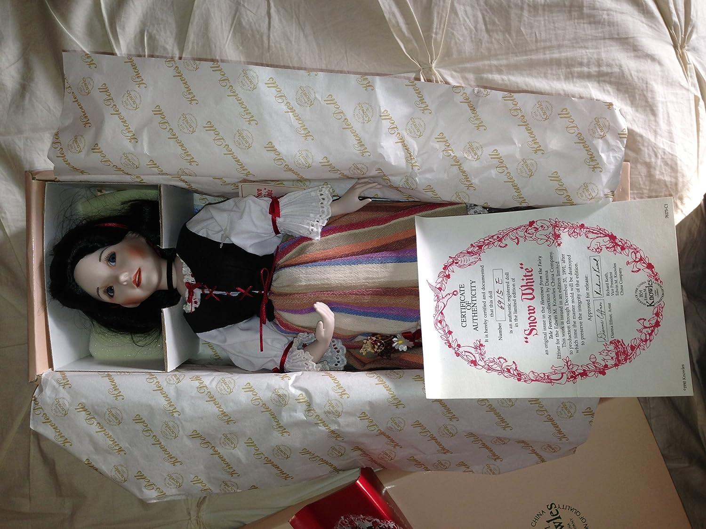 Porcelain art doll  The Swan Princess Fairytale character Handmade souvenir