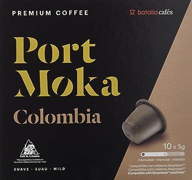 Port Moka Cápsulas de Café Colombia Compatibles con Cafetera Nespresso - 4 Paquete de 10 Unidades