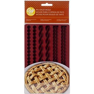 Wilton W4358 Silicone Lattice Pie Crust Mold, Makes Braids, Ropes & Pearls 2 Each