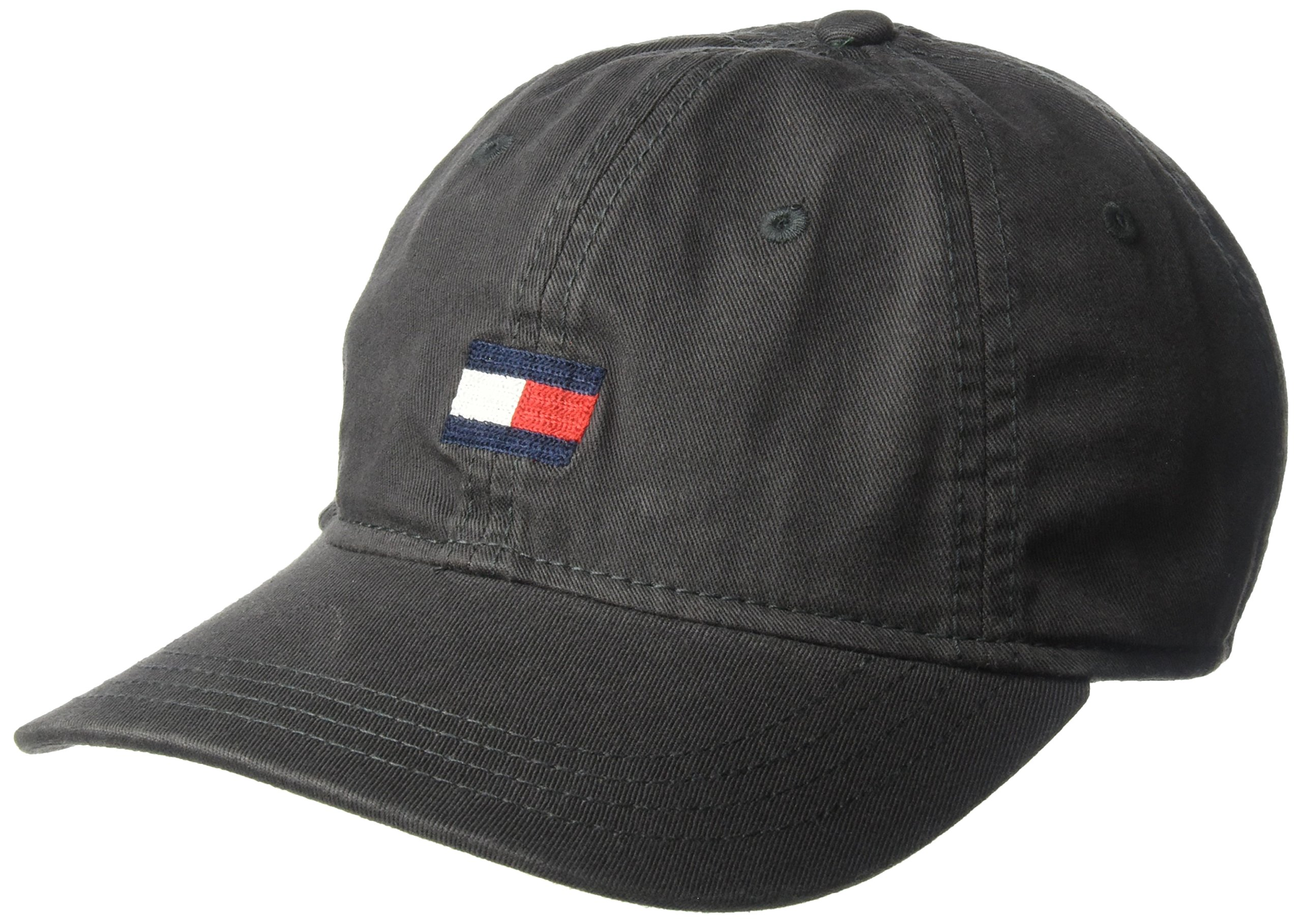 Tommy Hilfiger Men's Ardin Dad Hat, Charcoal, One Size by Tommy Hilfiger
