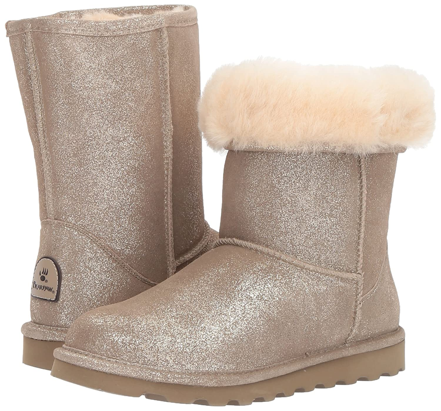 BEARPAW Women's 7 Elle Short Winter Boot B06XRQL5S8 7 Women's B(M) US|Pewter Distressed 5ada37