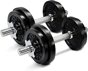 Yes4All 50lbs Adjustable Dumbbell Weight Set (Pair)