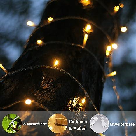 Kein Transformator Warmwei/ß 100er myCozyLite LED Lichterkette Verl/ängerung Nur 10m