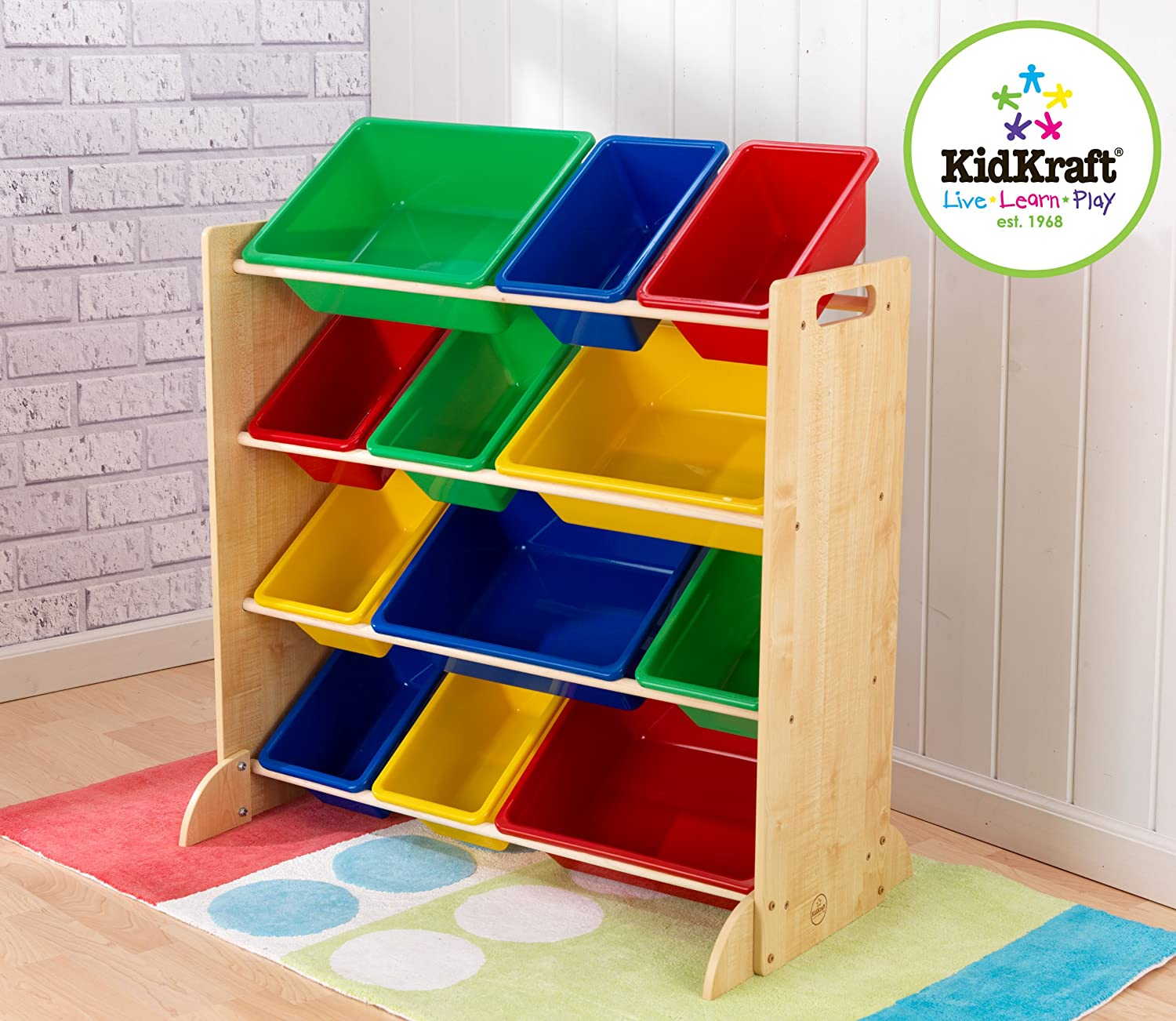 Amazon.com: KidKraft Sort It And Store It Bin Unit   Espresso: Toys U0026 Games