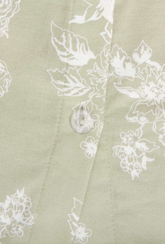 Pinzon 170 Gram Flannel Cotton Duvet Cover Queen Floral Sage Full