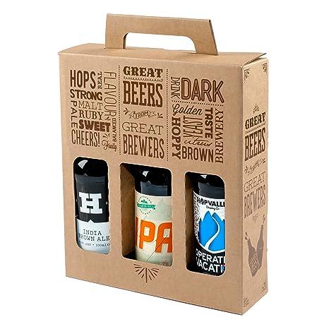 Botella de cerveza y sidra «Great Beers from Great Brewers», caja de cartón resistente ...