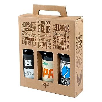 Botella de cartón para 3 botellas de cerveza y sidra de 330 ...