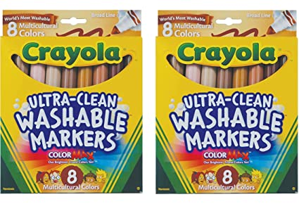amazon com crayola multicultural colors broad line washable markers