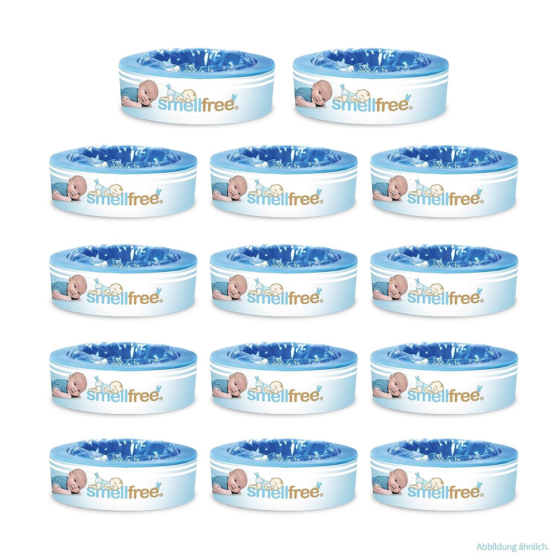 Smellfree Pack de recharges pour Angelcare Poubelle à couches 12 +2 gratuit B&L