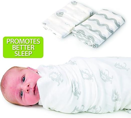 Manta de algodón de Muselina orgánica para bebé – Manta Grande ...