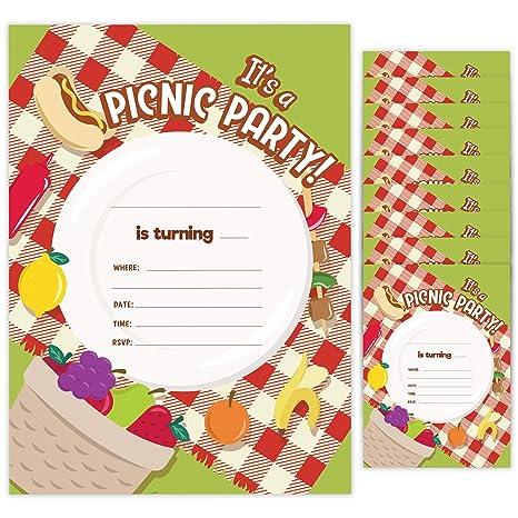 Tarjetas De Invitación De Cumpleaños Para Pícnic 1 10