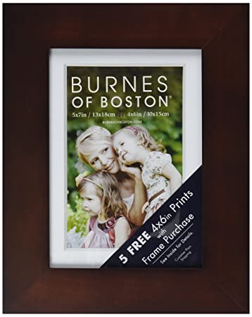 burnes of boston walnut flat gallery frame 5 inch by 7 inch