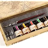 GC QUill Calligraphy Pen Set Writing Case with 5 Bottle Ink