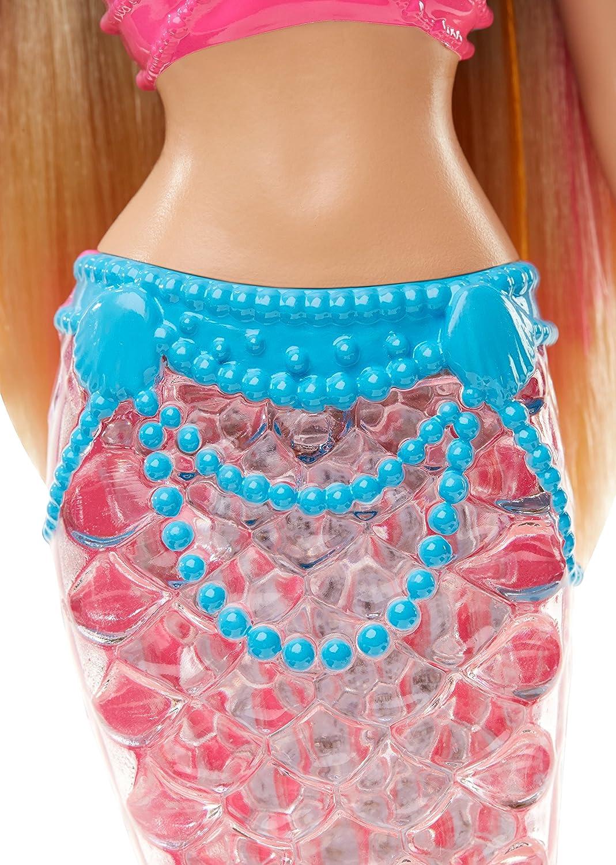 amazon com barbie rainbow lights mermaid doll toys u0026 games