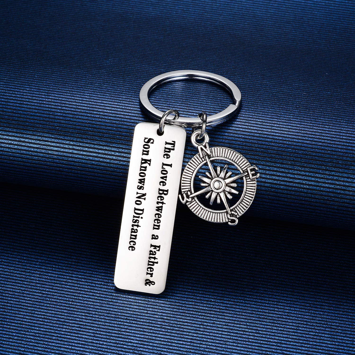 MADHAHEFU Father Daughter Long Distance Keychain Gifts Key Ring Keychain for Birthday Christmas from Daughter Son