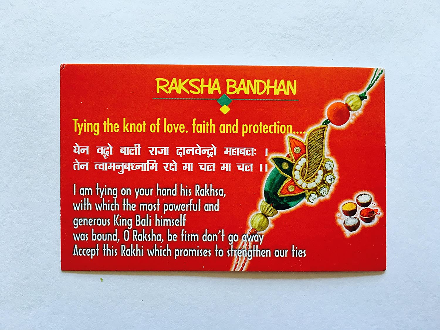 Amazon Rose Rakhi Pack With Card And Chocolate Indian